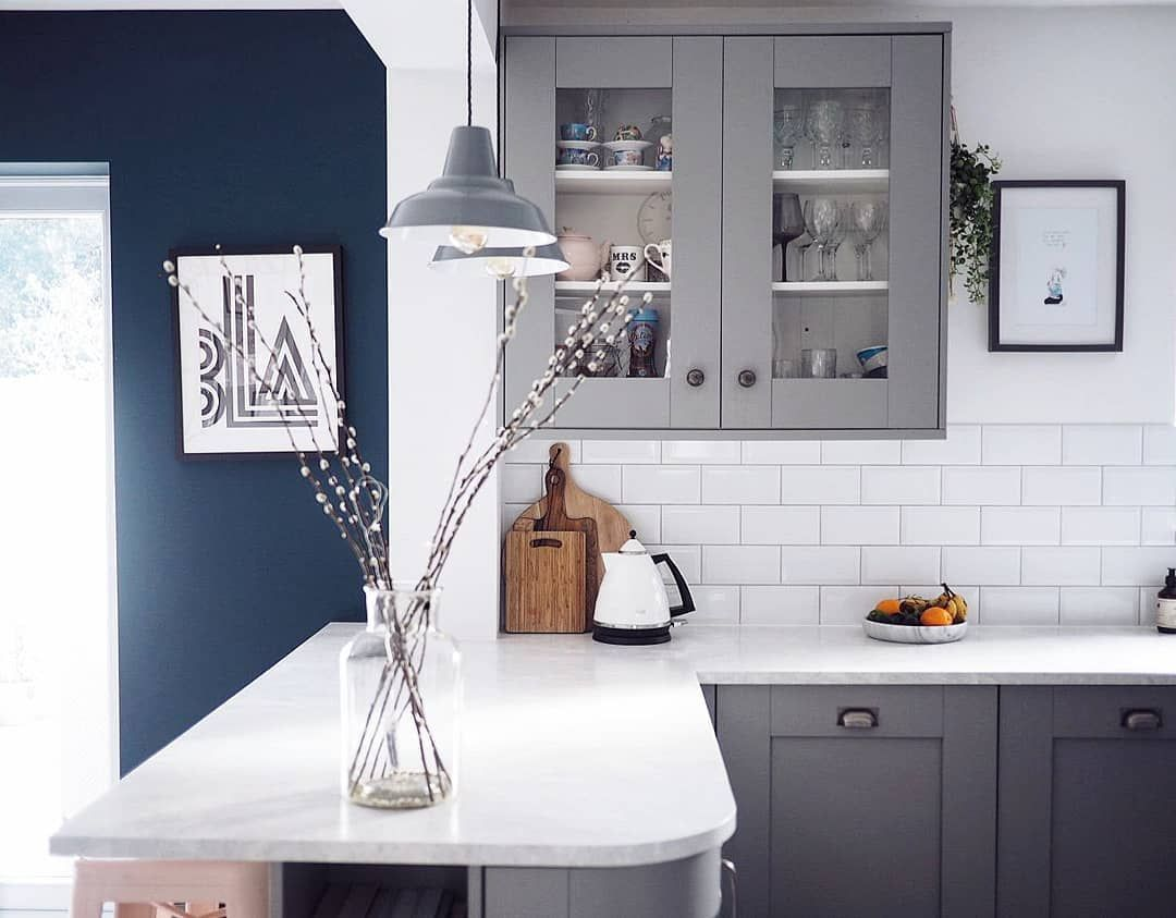 Best Farrow And Ball Plummett Grey Kitchen With Wevet Walls And 400 x 300