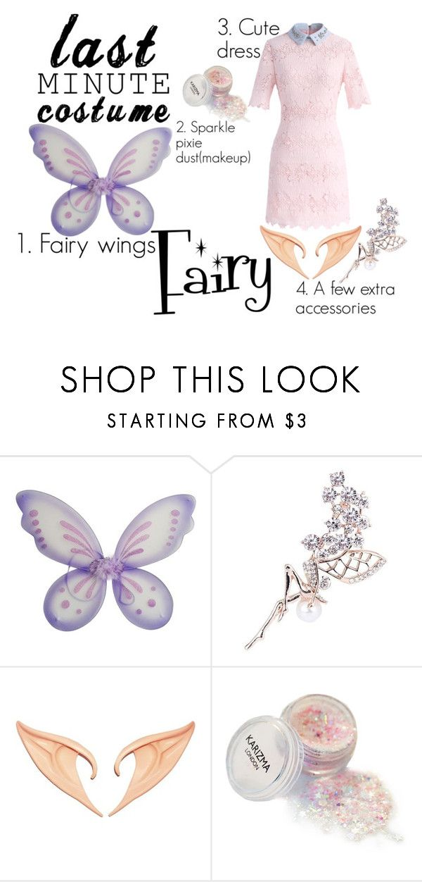 """Last Minute Costume; Fairy"" by elegant-flower ❤ liked on Polyvore featuring Chicwish, fairy and Costume"