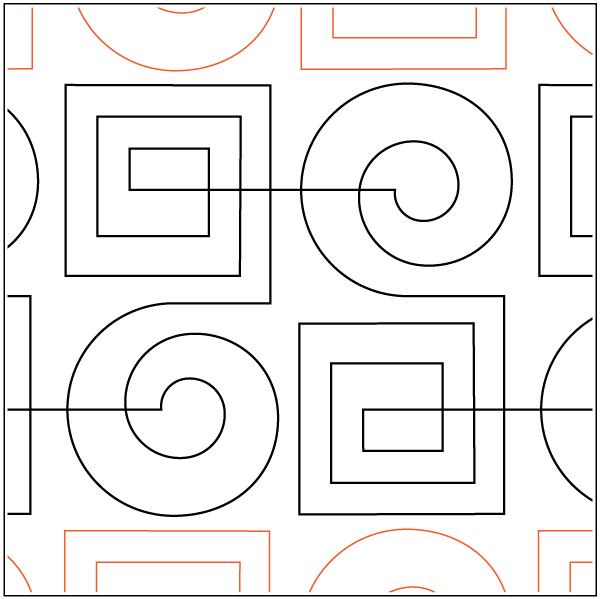 Modern Greek Key - Pantograph | stencil | Pinterest