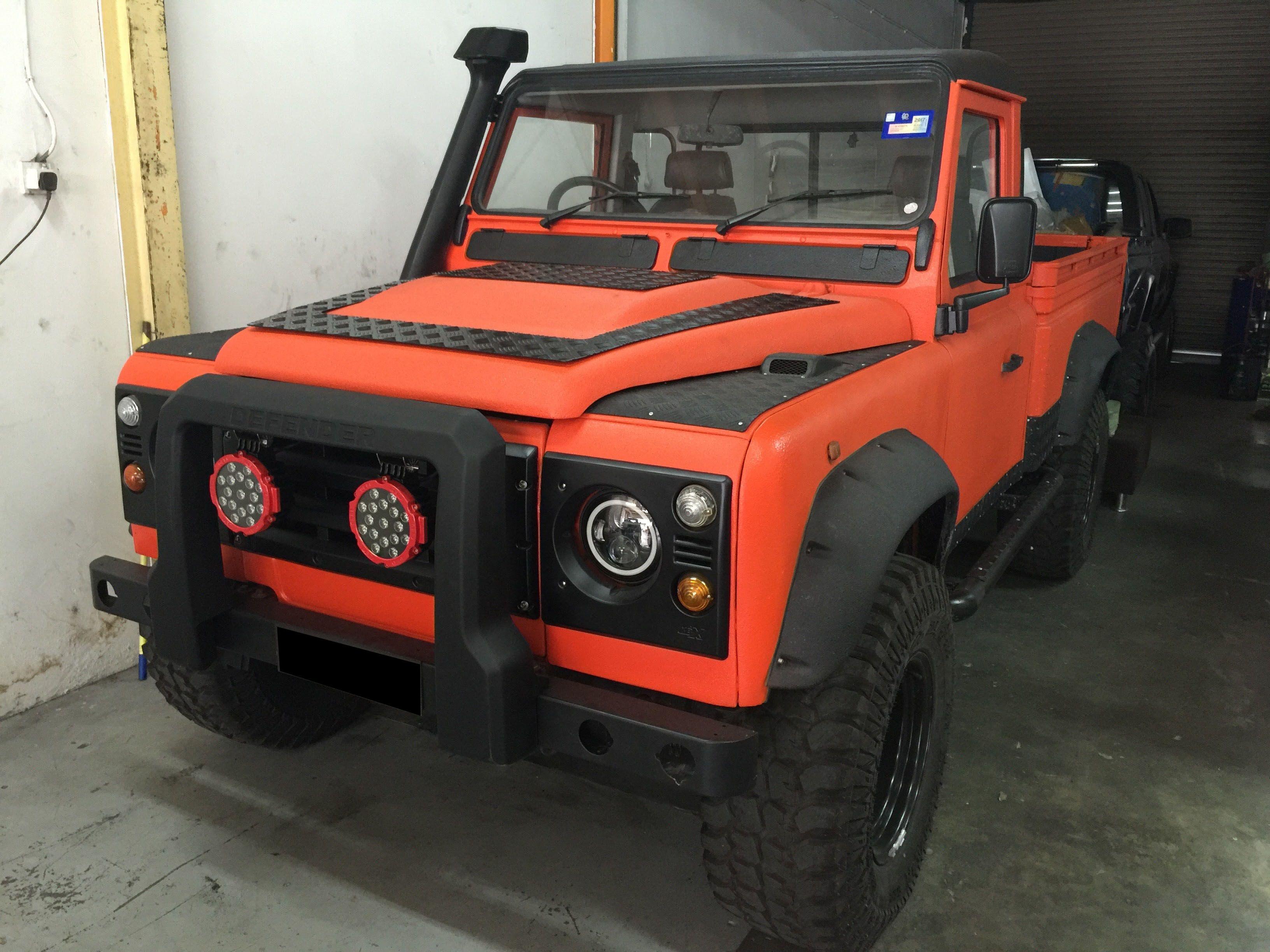 Upol Raptor Coated Land rover, Truck paint, Monster trucks