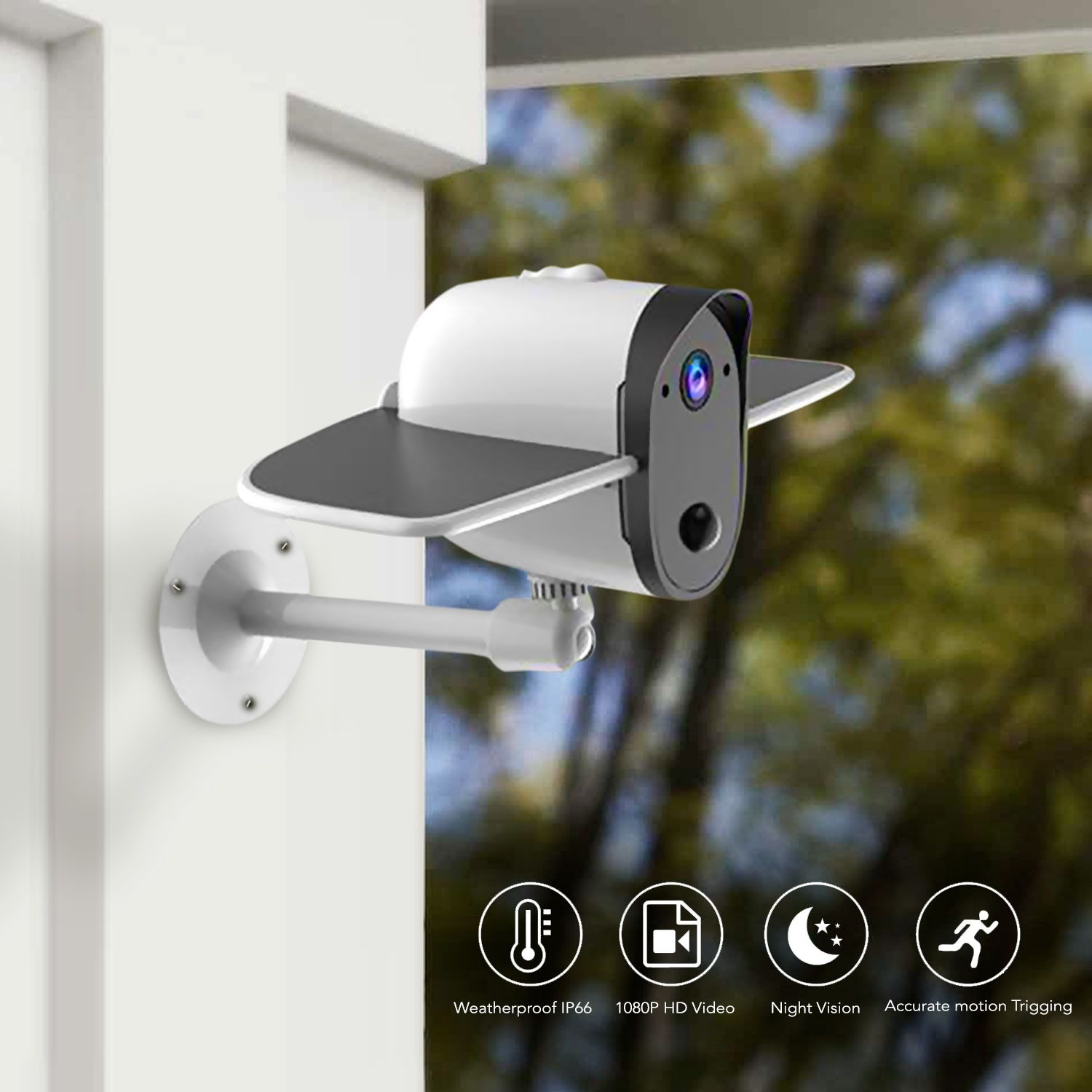 Soliom Bird S60 Outdoor Wireless Solar Home Security Camera Home Security Systems Security Cameras For Home Alarm Systems For Home