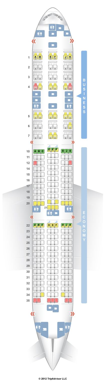 SeatGuru Seat Map Qatar Airways Boeing 777-200LR (77L ...