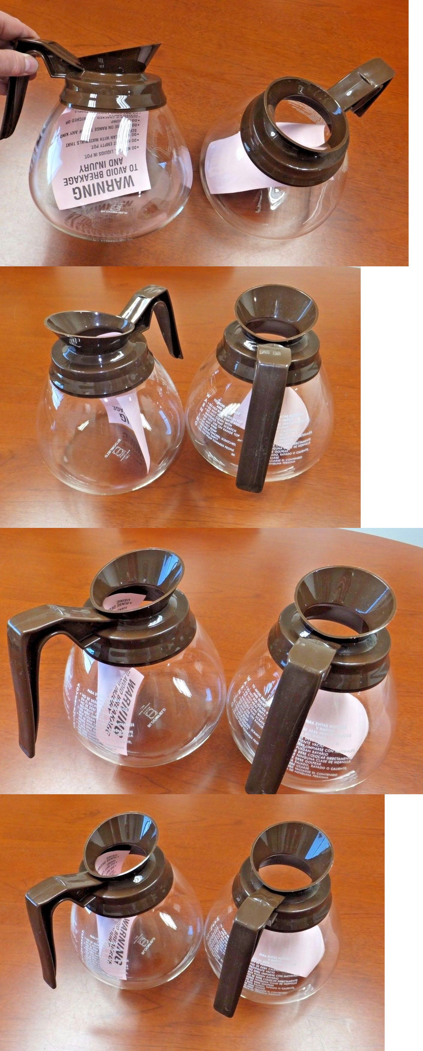 Regular 2 pk BROWN 12 Cup Commercial Coffee Pots//Carafes//Decanters for BUNN