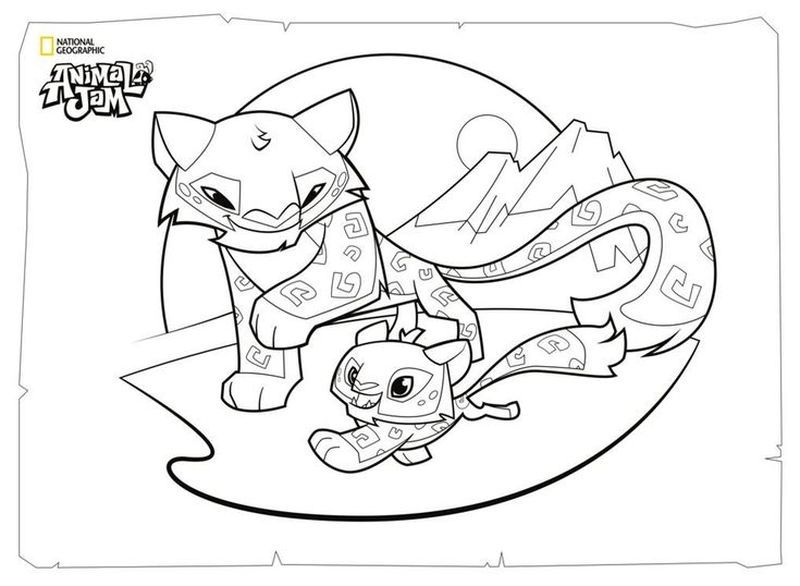 Animal Jam Coloring Pages Lynx