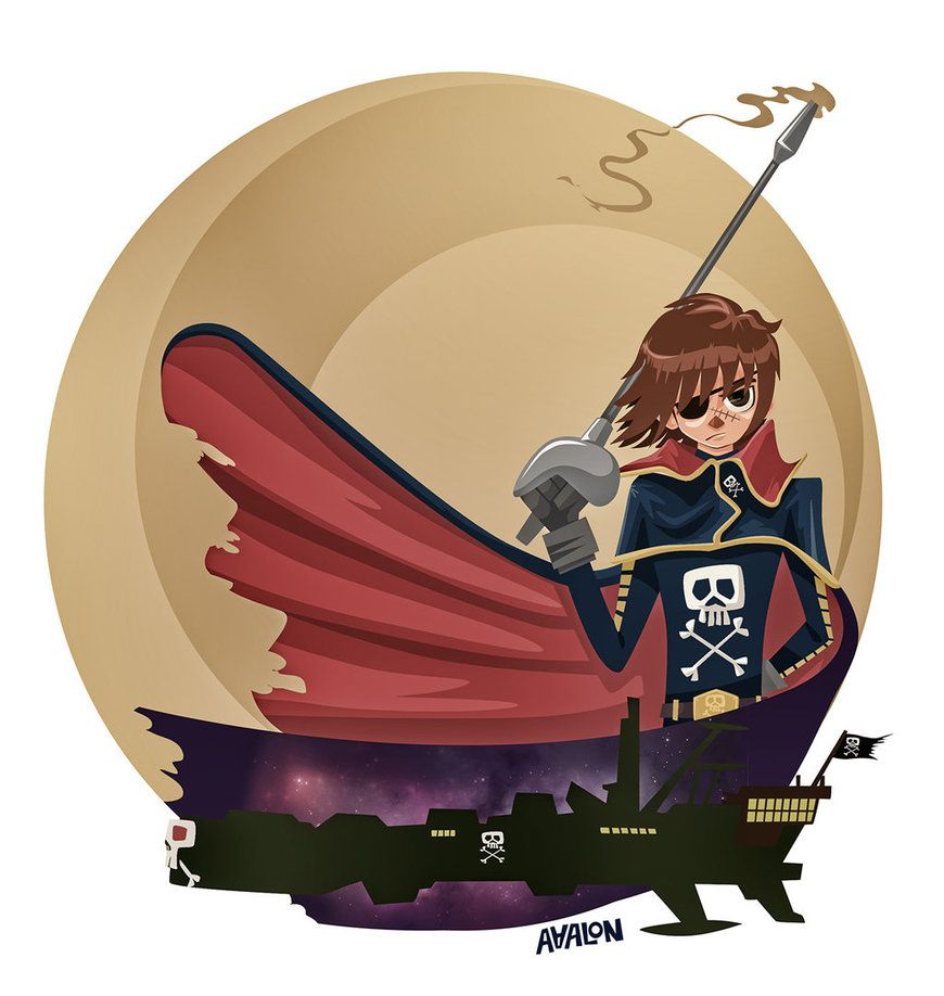 Tribute to Harlock by Andres-Iles on DeviantArt