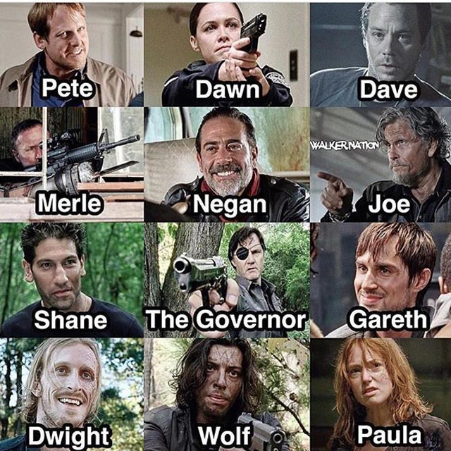 Who Was The Worst Villain The Walking Dead Amc Walking Dead Dead
