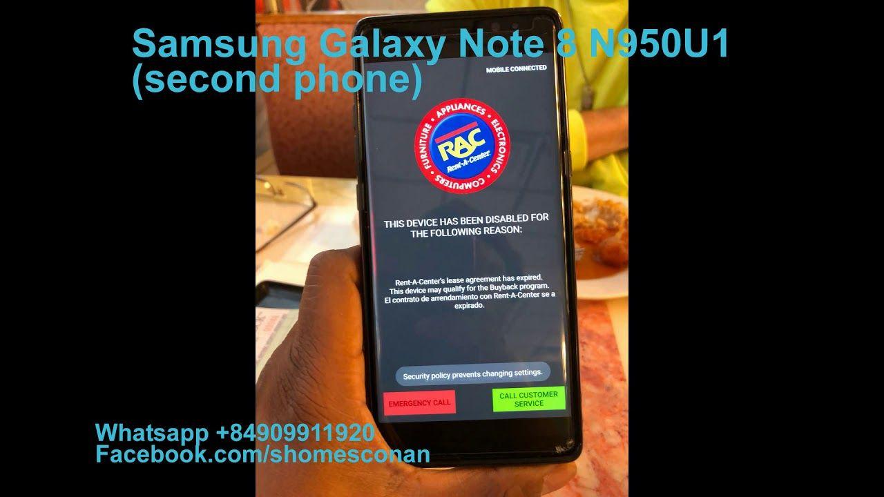 Remove PayJoy RAC Rent-A-Center Samsung Galaxy Note 8 S8+ S8 N950U