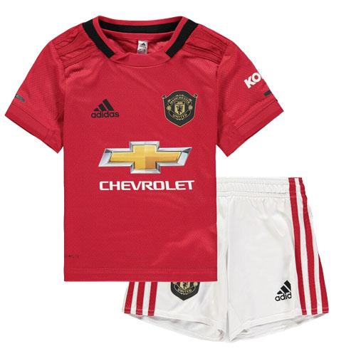 19 20 Manchester United Home Red Children S Jerseys Kit Shirt Short Cheap Soccer Jerseys Shop Manchester United Badge Soccer Shirts Manchester United Logo