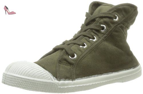 6c64b3c0cd9f86 Bensimon Tennis Mid Ado, Baskets mode mixte enfant - Vert (Kaki 612 ...