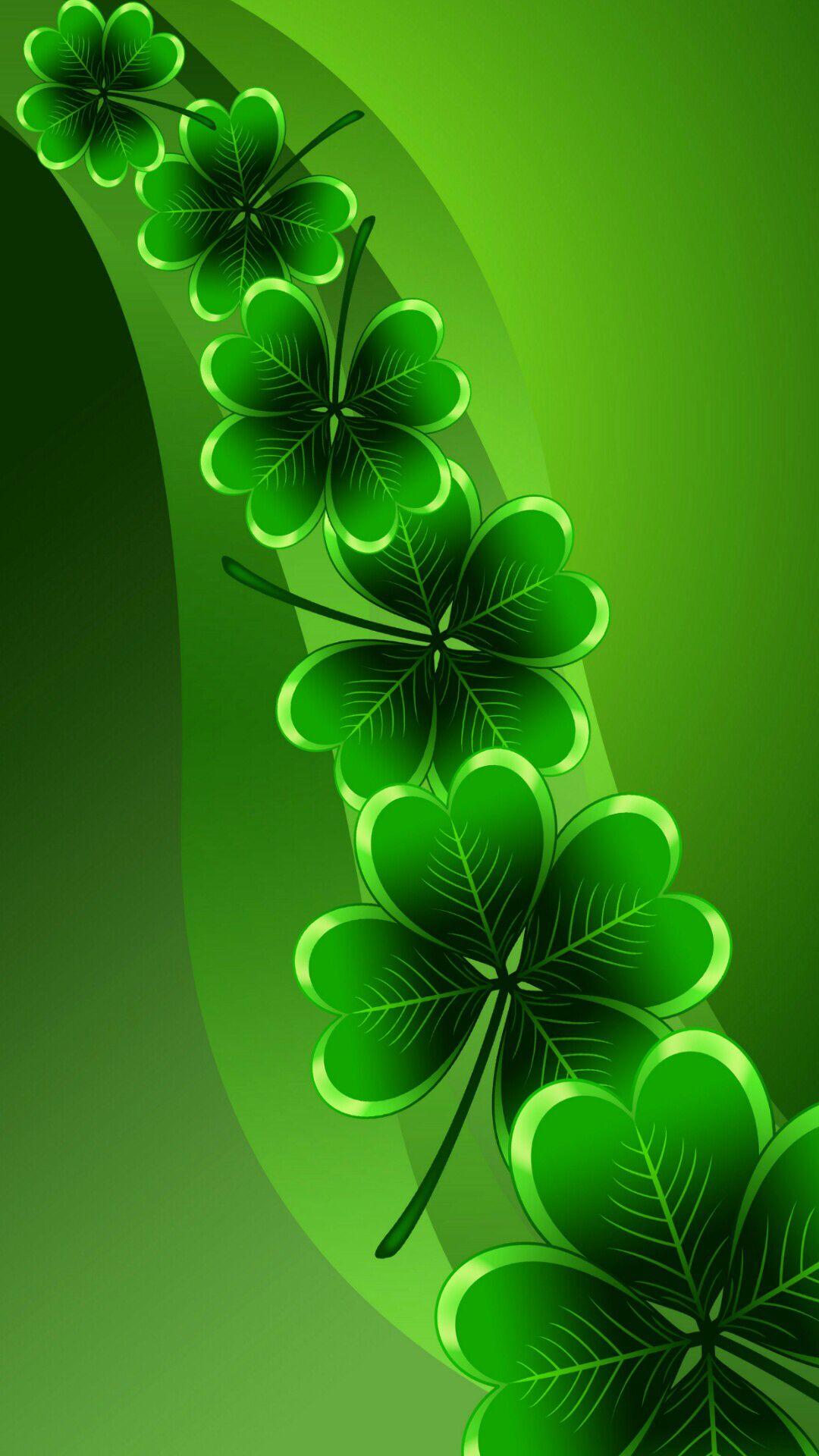 Shamrocks Flower Wallpaper St Patricks Day Wallpaper Green Wallpaper