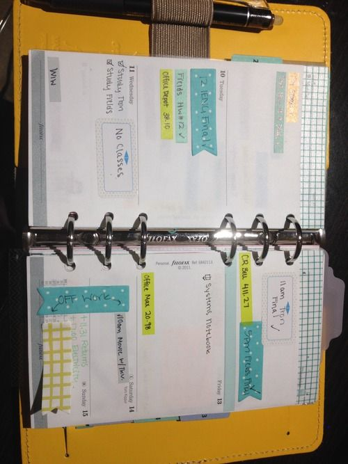 Moving to a color coding system in my #filofax www.zinzeyray.tumblr.com