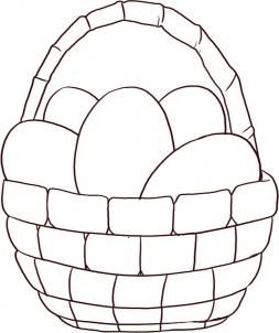 How To Draw An Easter Basket By Dawn Easter Egg Basket Easter