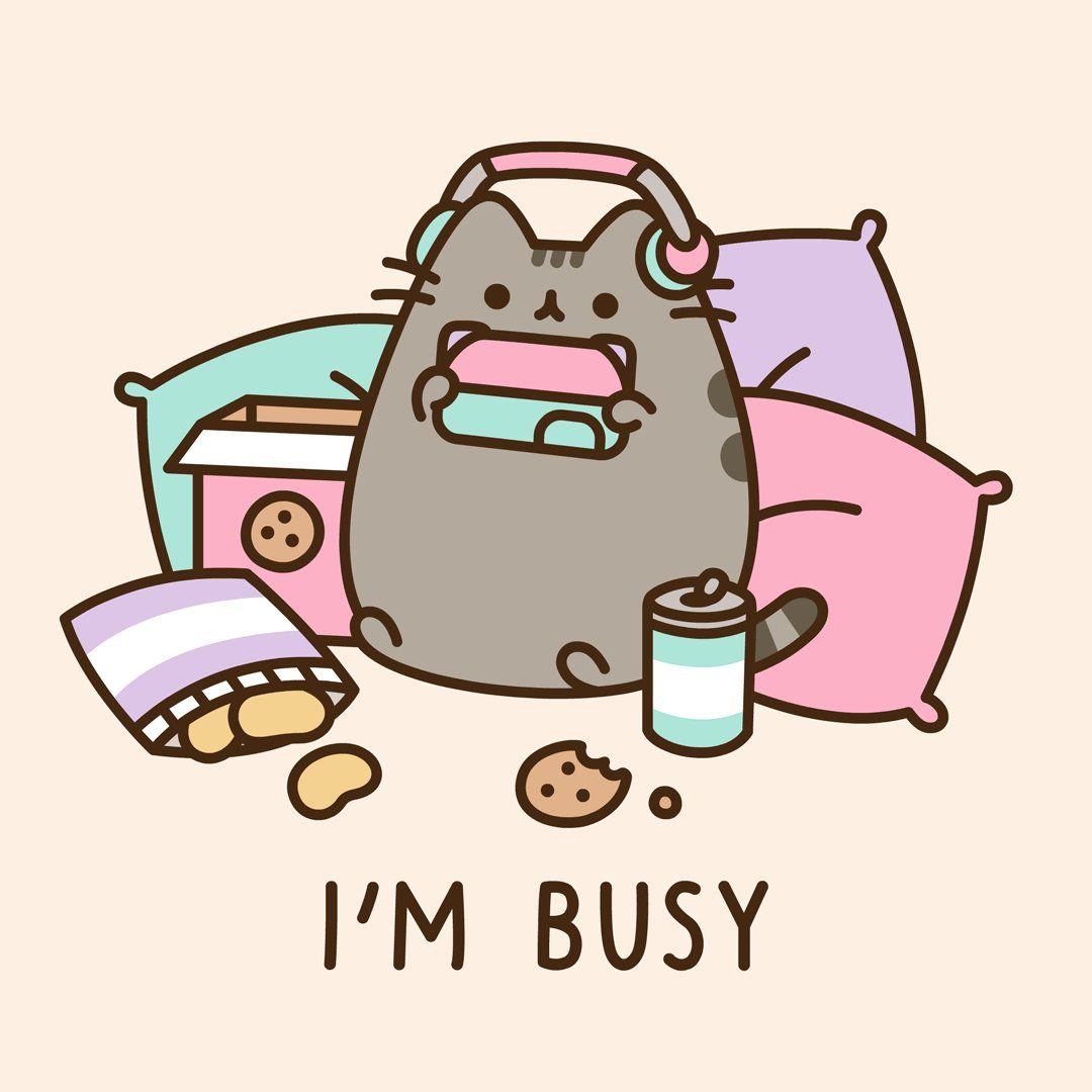 "Pusheen the cat on Twitter ""🐱🎮🍪🥤… "" Pusheen cute"