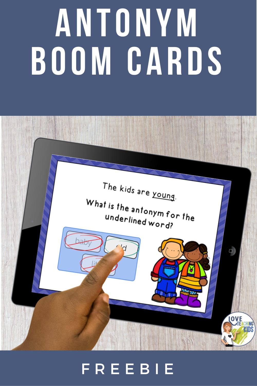 Antonym Boom Cards Digital Task Cards Google Classroom Activities Task Cards