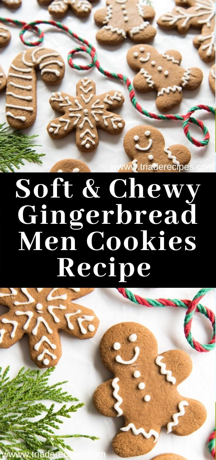 Soft & Chewy Gingerbread Men Cookies Recipe dessert (With