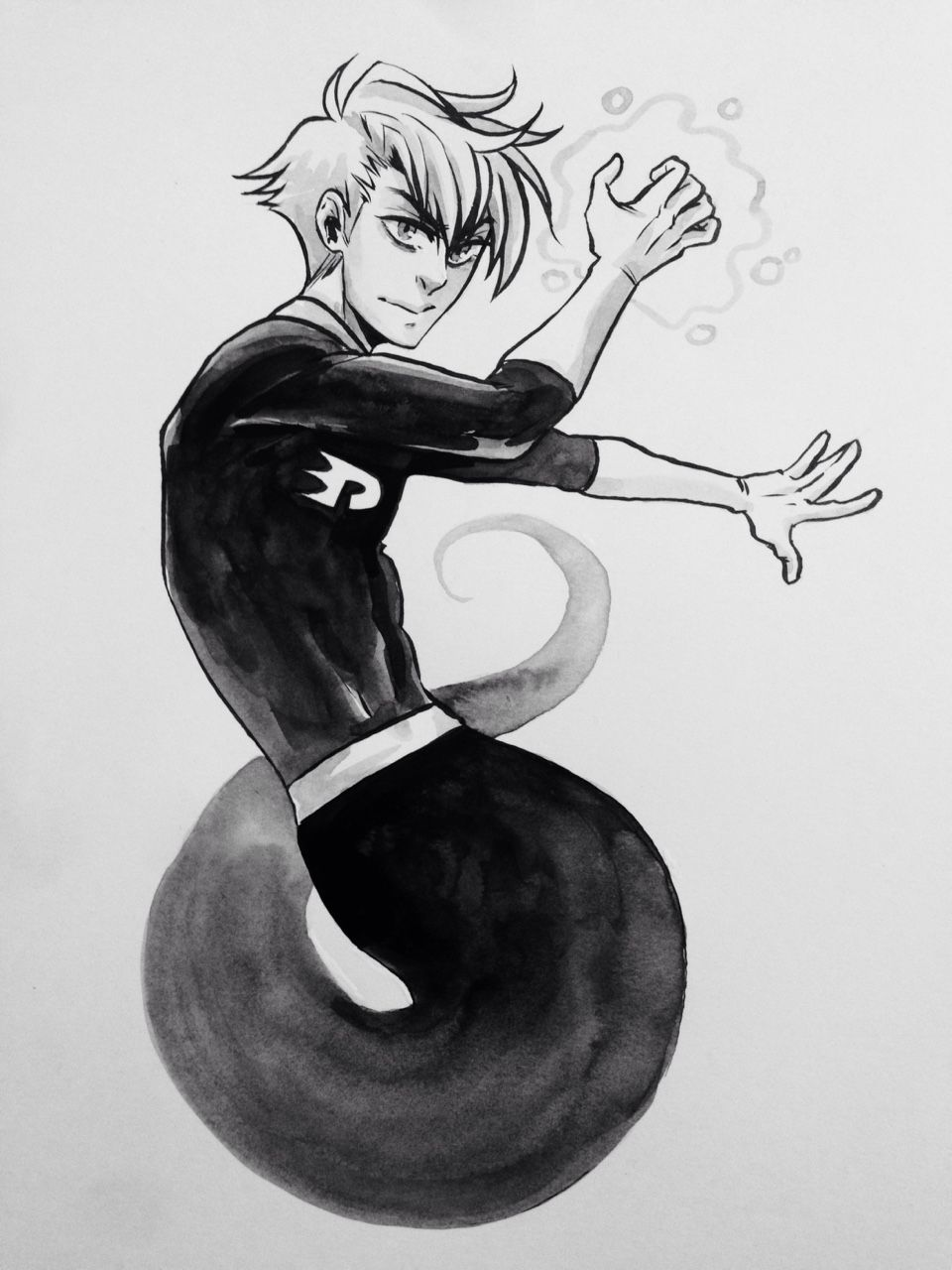 misslucid:  inktober day 7: *wordlessly rolls into view, mumbling the entire Danny Phantom theme song from memory*