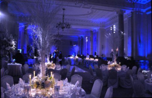 Tall Winter Wedding Reception Centerpieces And Lighting Someday