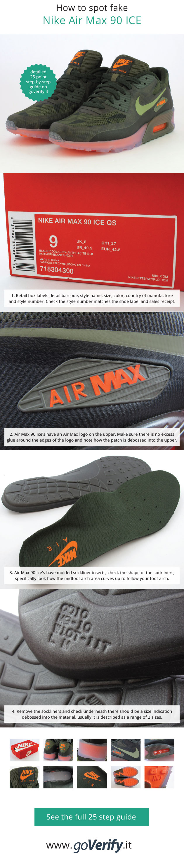 online store 55a2e 2d9c7 ... canada how to spot fake nike air max 90s go to goverify.it for a