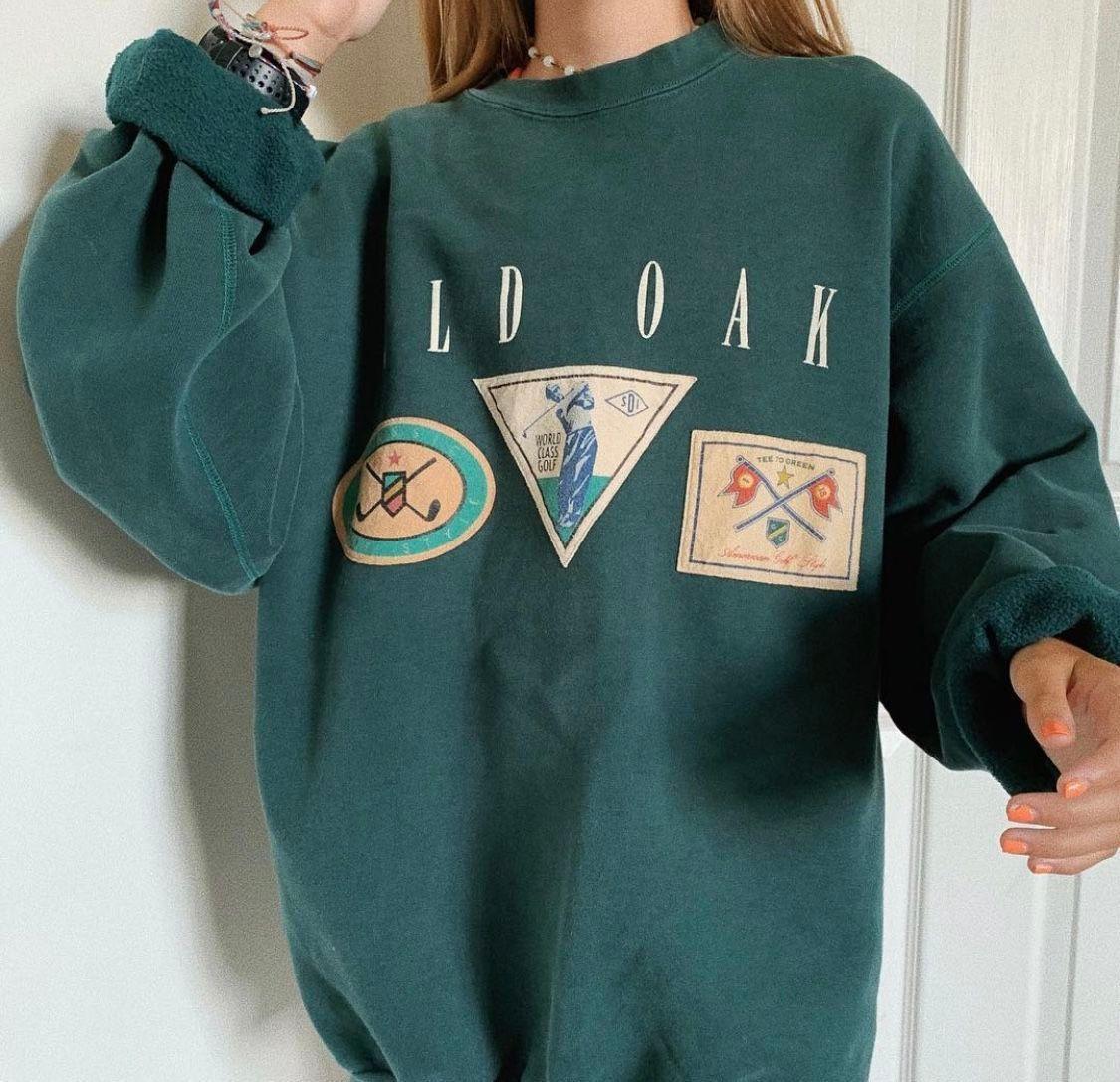 Vintage Old Oak Golfing Crewneck Vintage Crewneck Sweatshirt Vintage Hoodies Vintage Crewneck [ 1087 x 1125 Pixel ]