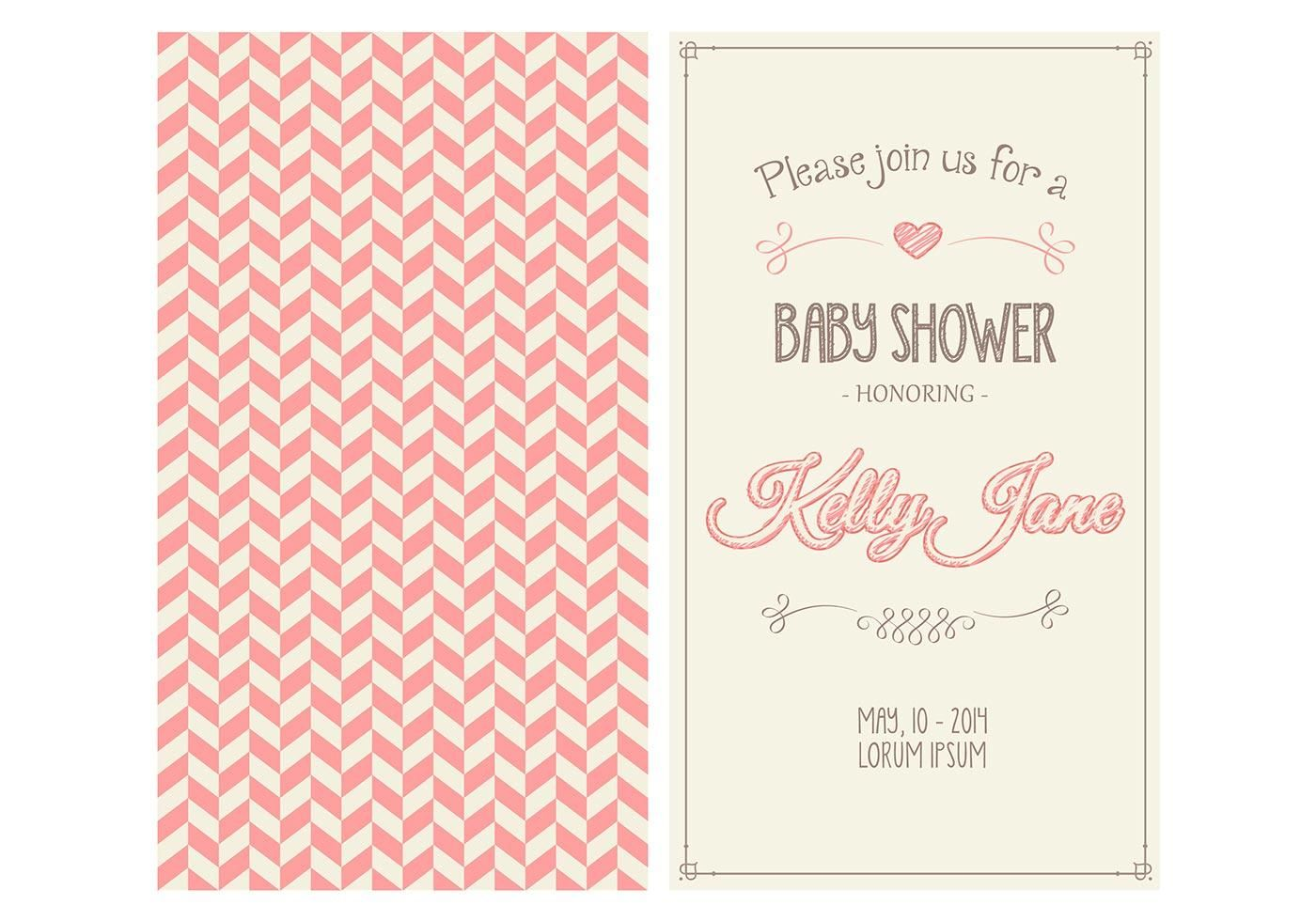 Baby girl shower invitation vector diy printables pinterest baby girl shower invitation vector stopboris Choice Image