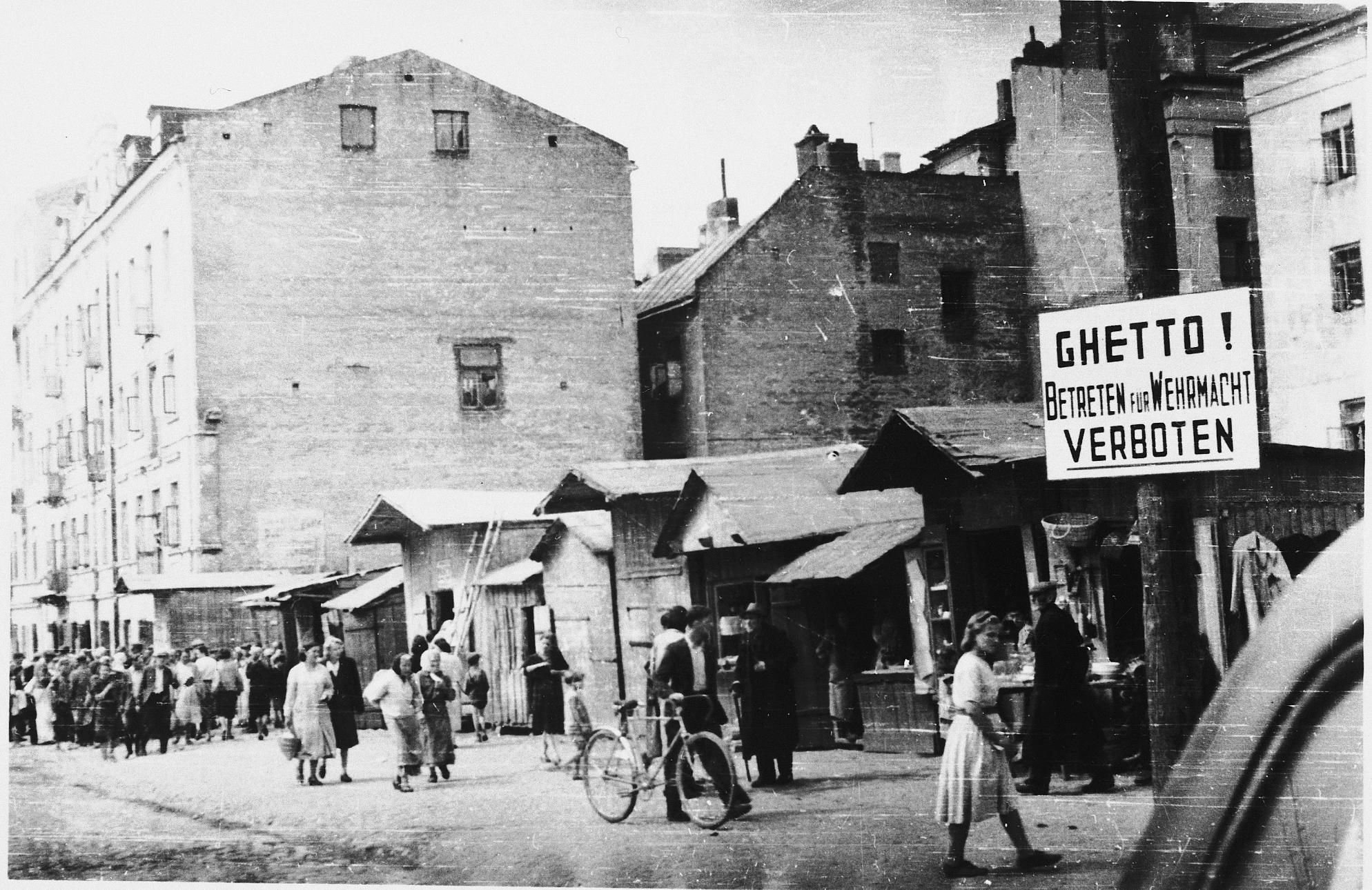 During World War II, Jewish Ghettos were city districts ...