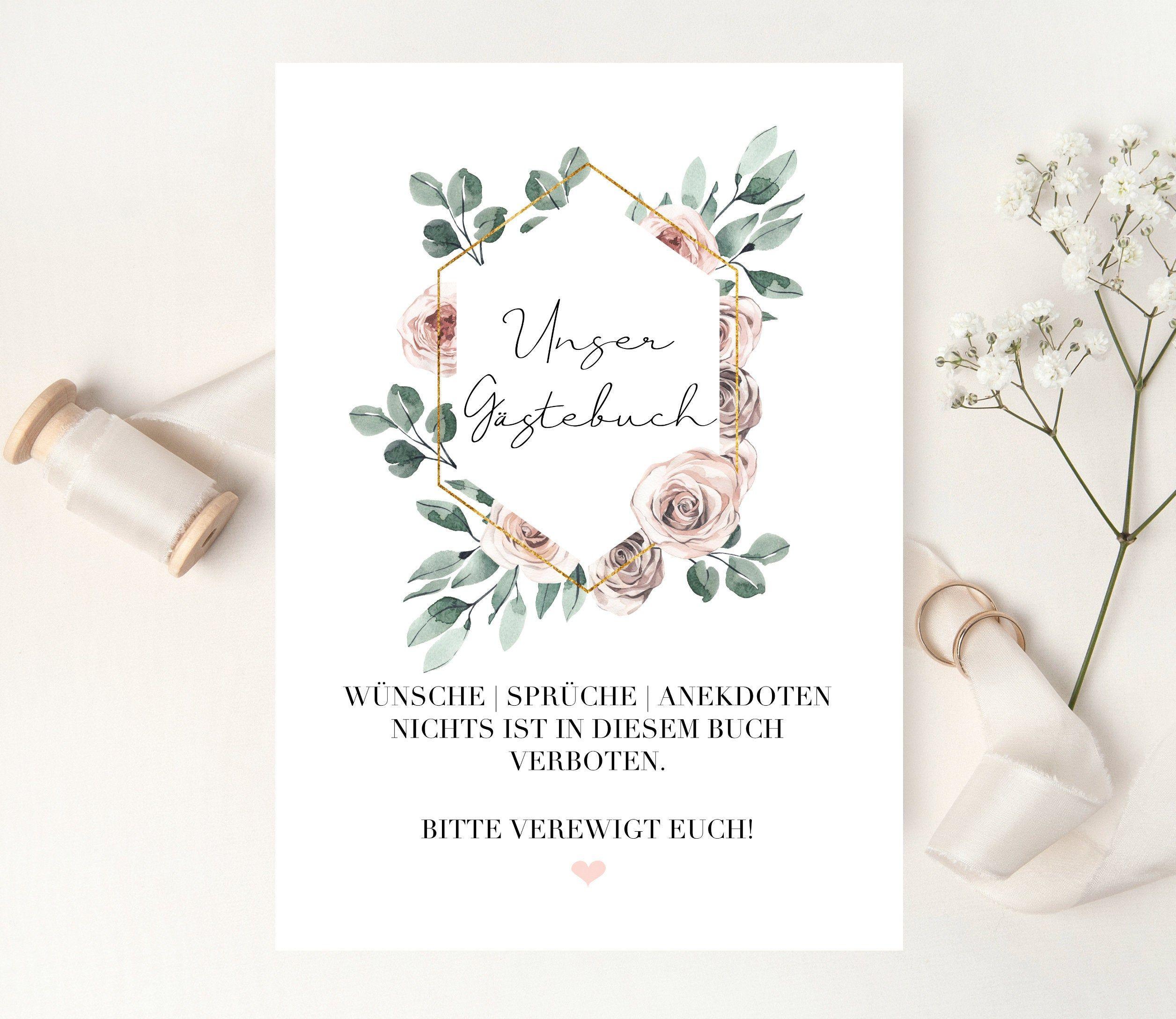 Aufsteller Poster Schild Wegweiser Hochzeit Gastebuch Rosen Blatter Eukalyptus Greenery Botanik In 2020 Diy Wedding Decorations Mom Birthday Crafts Diy Wedding
