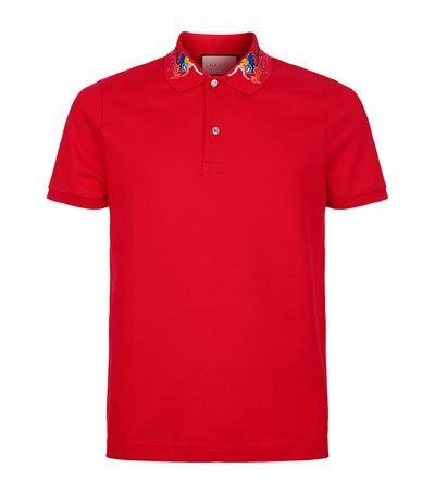 2eb41966f GUCCI Embroidered Collar Polo Shirt. #gucci #cloth # | Gucci Men ...