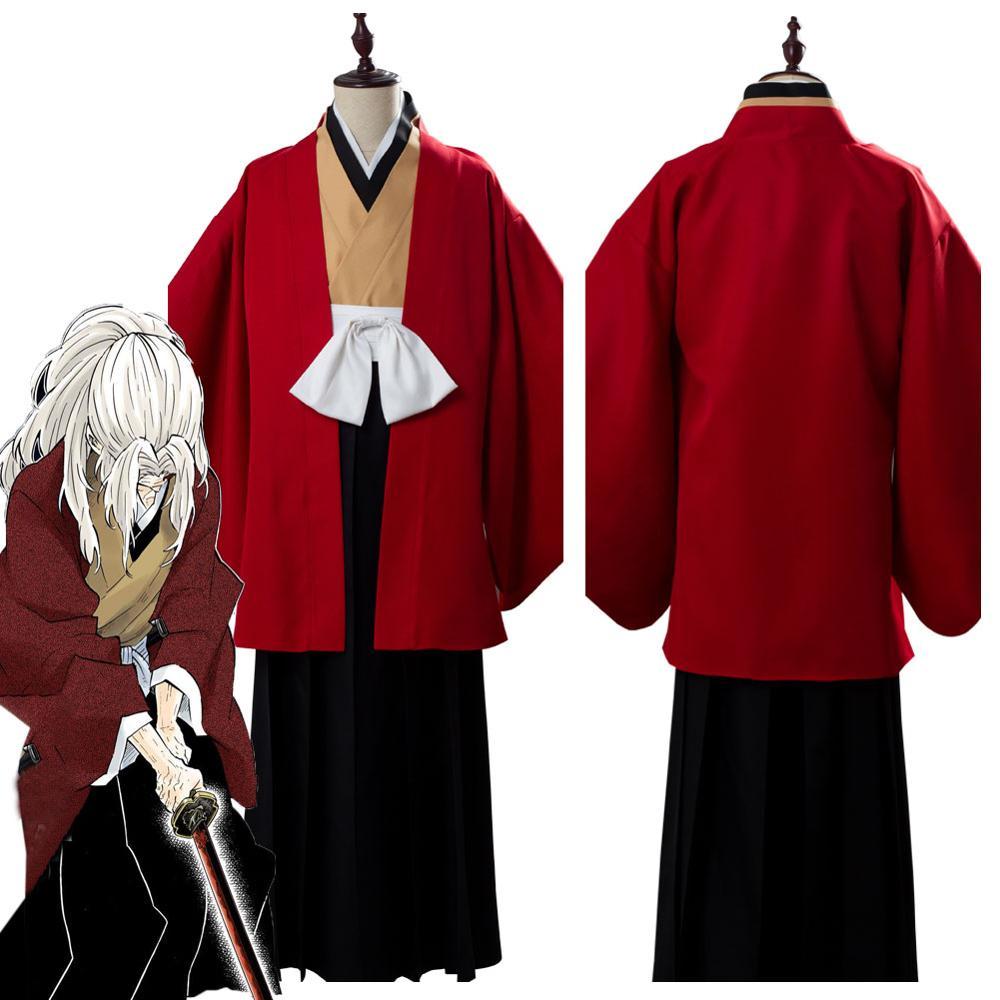 Kimetsu no Yaiba Demon Slayer Tsugikuni Yoriichi Men Cosplay Costume Wig Kimono