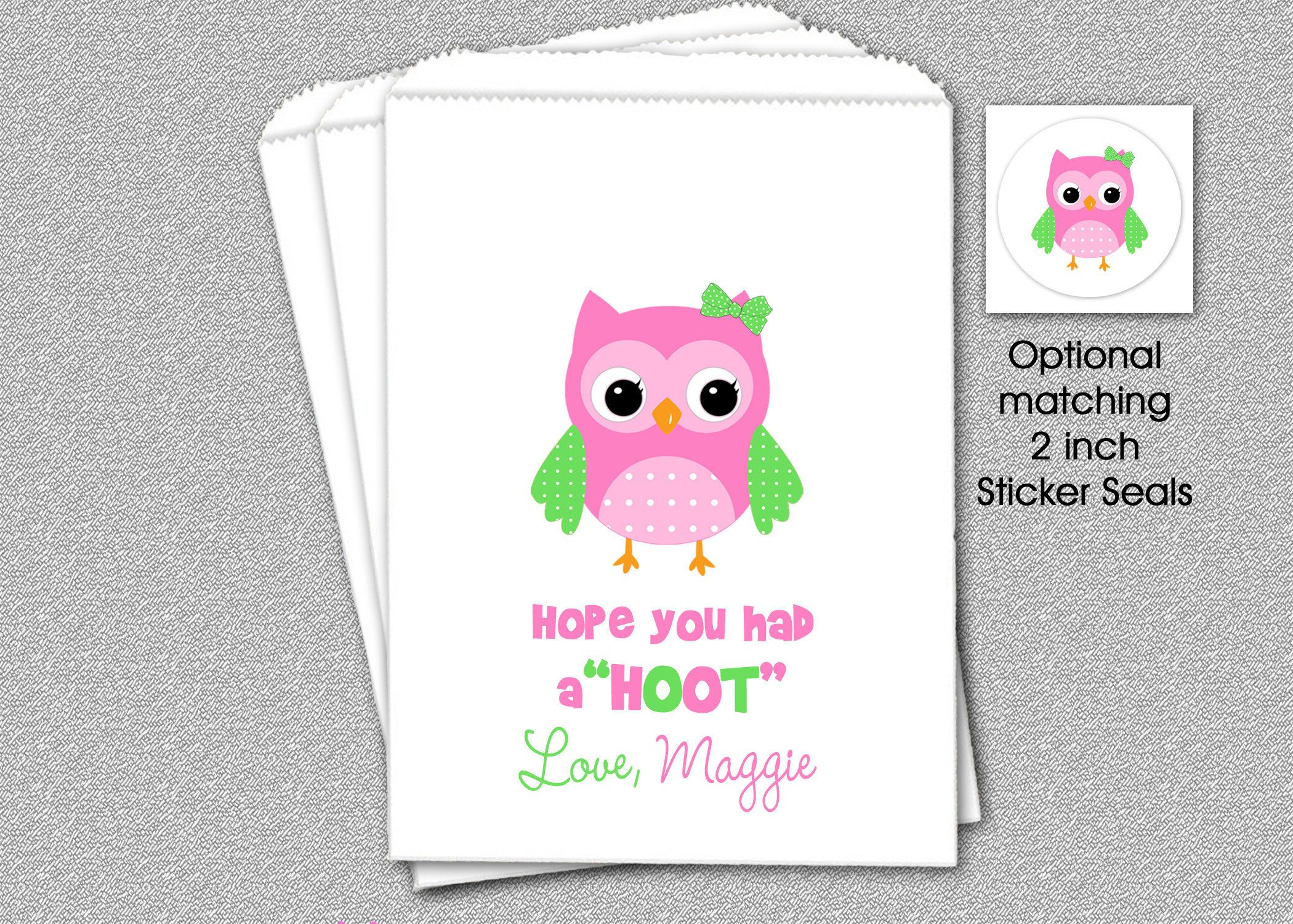 owl party candy bags goody bags party favor bag owl cookie bags
