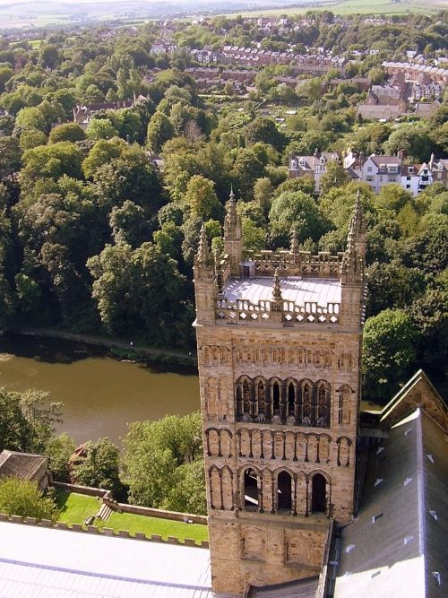 View From The Top Of Durham Cathedral Tower Durham Uk Uk