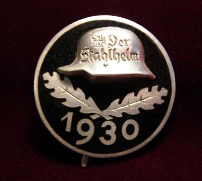 Der Stahlhelm 1930 Membership Badge.