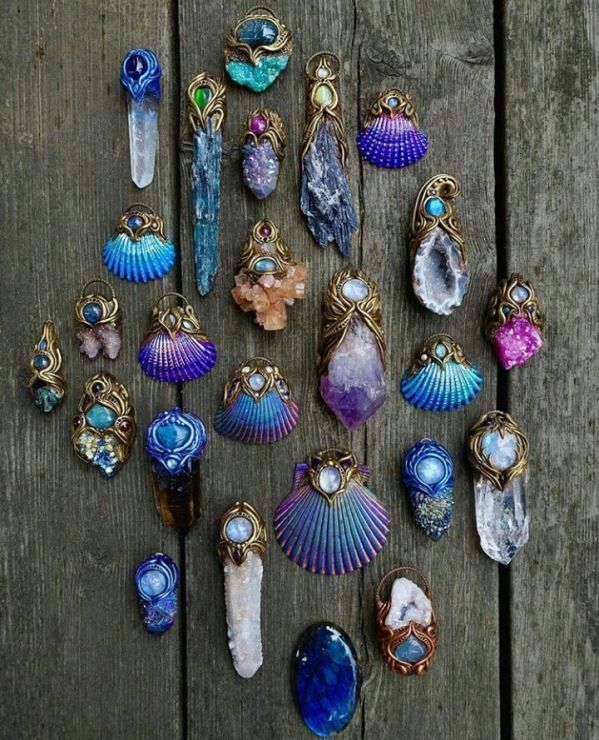 Photo of Shell & Crystal pendants
