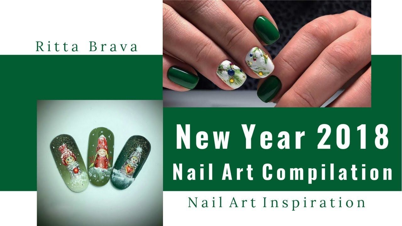 New Year 2018 Nail Art Compilation - Best Winter Nails christmas ...