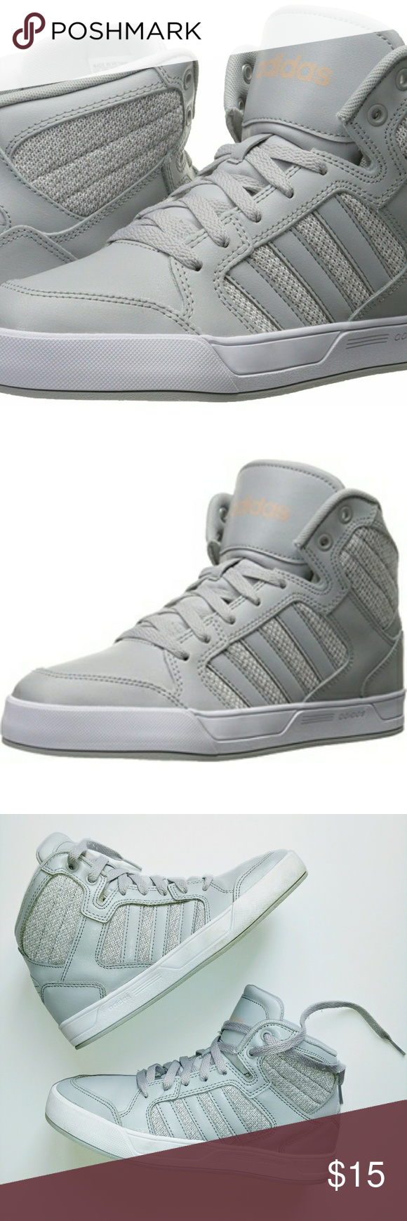 usa adidas neo high tops grey fabric 1ae59 7be17
