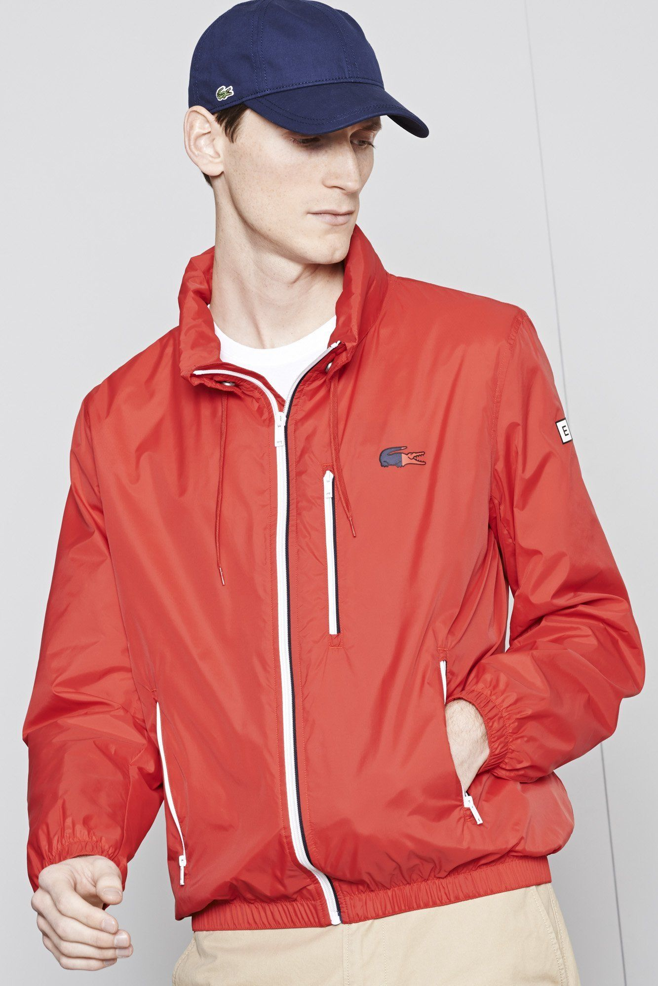 afa84d1e1e5b Lacoste Nautical hooded taffeta jacket