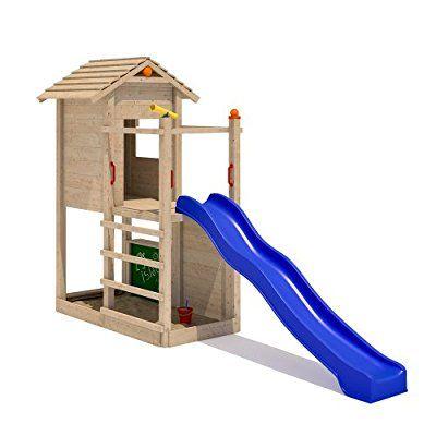 Isidor Picodo Spielturm Kletterturm Rutsche 2 Schaukeln Kletterwand Baumhaus Ohne Schaukelanbau Kids Play Area Backyard Inspiration Backyard Playground