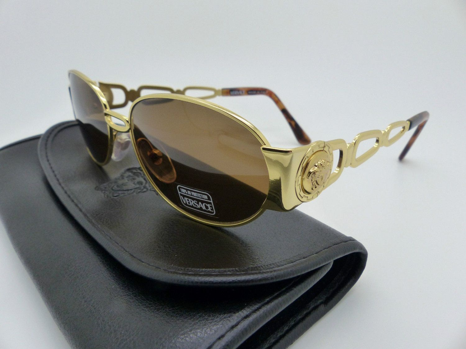 4aeb37ade5e4 Genuine Rare Vintage Gianni Versace Medusa Sunglasses Mod S32 Col 030 by  VSOx on Etsy