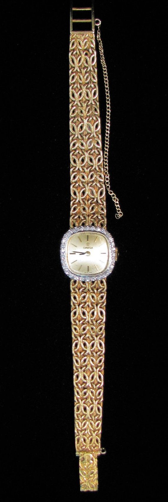 Vintage Omega 18k Gold Ladies Watch Elegant By Cristinasjewelers 4295 00 Womens Watches Fashion Watches Vintage Omega