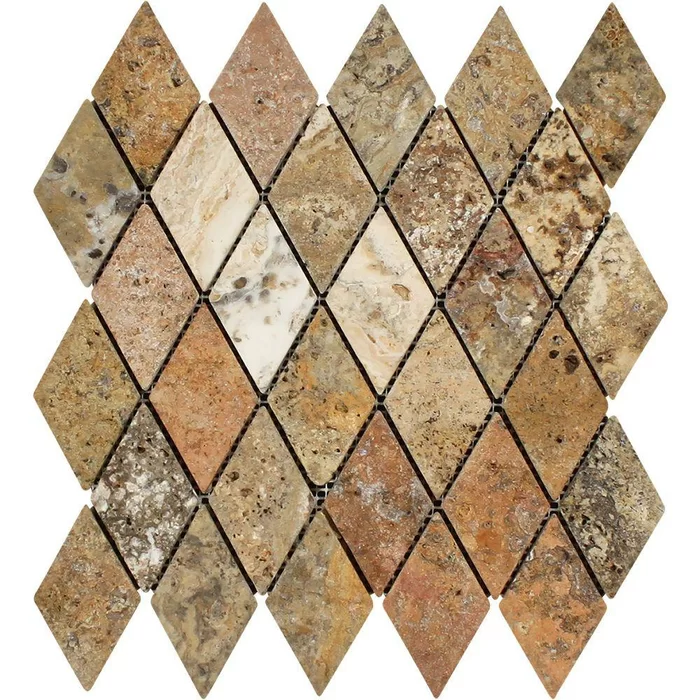 Meraki Diamond Tumbled 12 X 12 Travertine Mosaic Tile Wayfair Travertine Mosaic Tiles Stone Mosaic Tile Mosaic Tiles