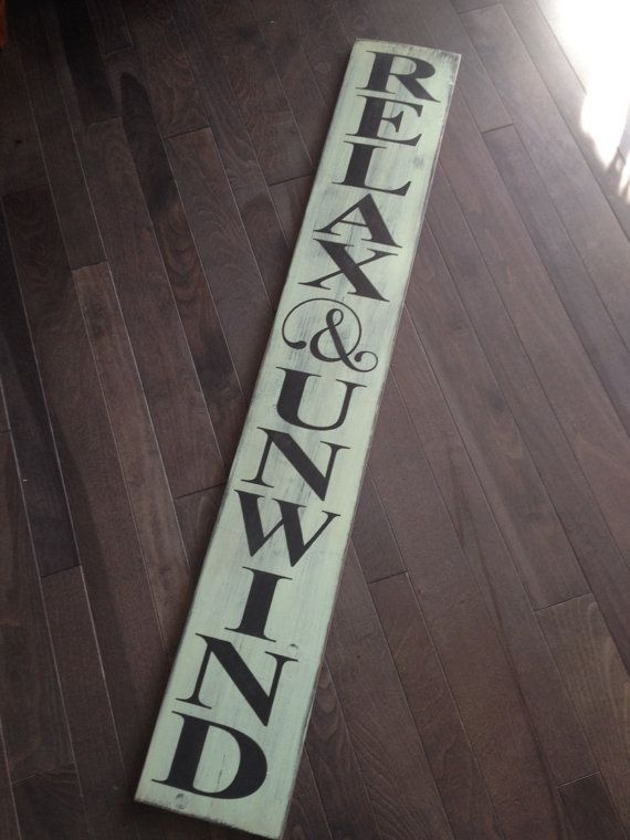 Relax And Unwind Hand Painted Patio Porch Sign By Izzyb
