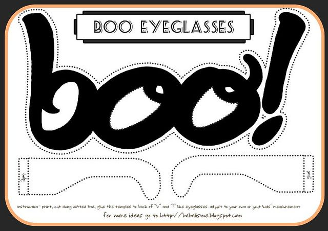 Printable: halloween boo eyeglasses