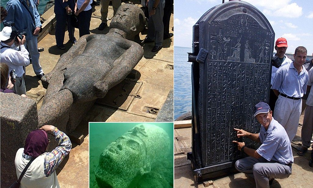 Sunken City Gives Up Its Treasure Ancient Egyptian Metropolis - Explorers discover ancient 1200 year old egyptian city