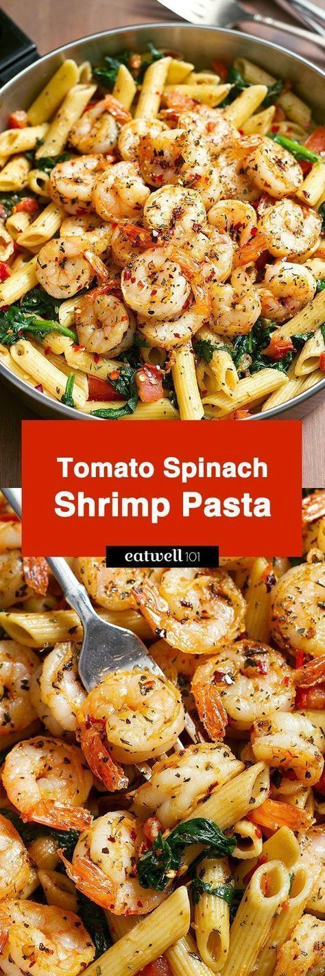 Spinach Shrimp Pasta Tomato Spinach Shrimp Pasta — Bold flavors star in this one pot dinner, ready in 30 minutes. Al dente pasta is tossed with spicy grilled shrimps, tomatoes, fresh spinach, garlic, and a drizzle of o…Tomato Spinach Shrimp Pasta — Bold flavors star in this one pot dinner, ready in 30 minutes. Al dente pasta is tossed with spicy grilled sh...