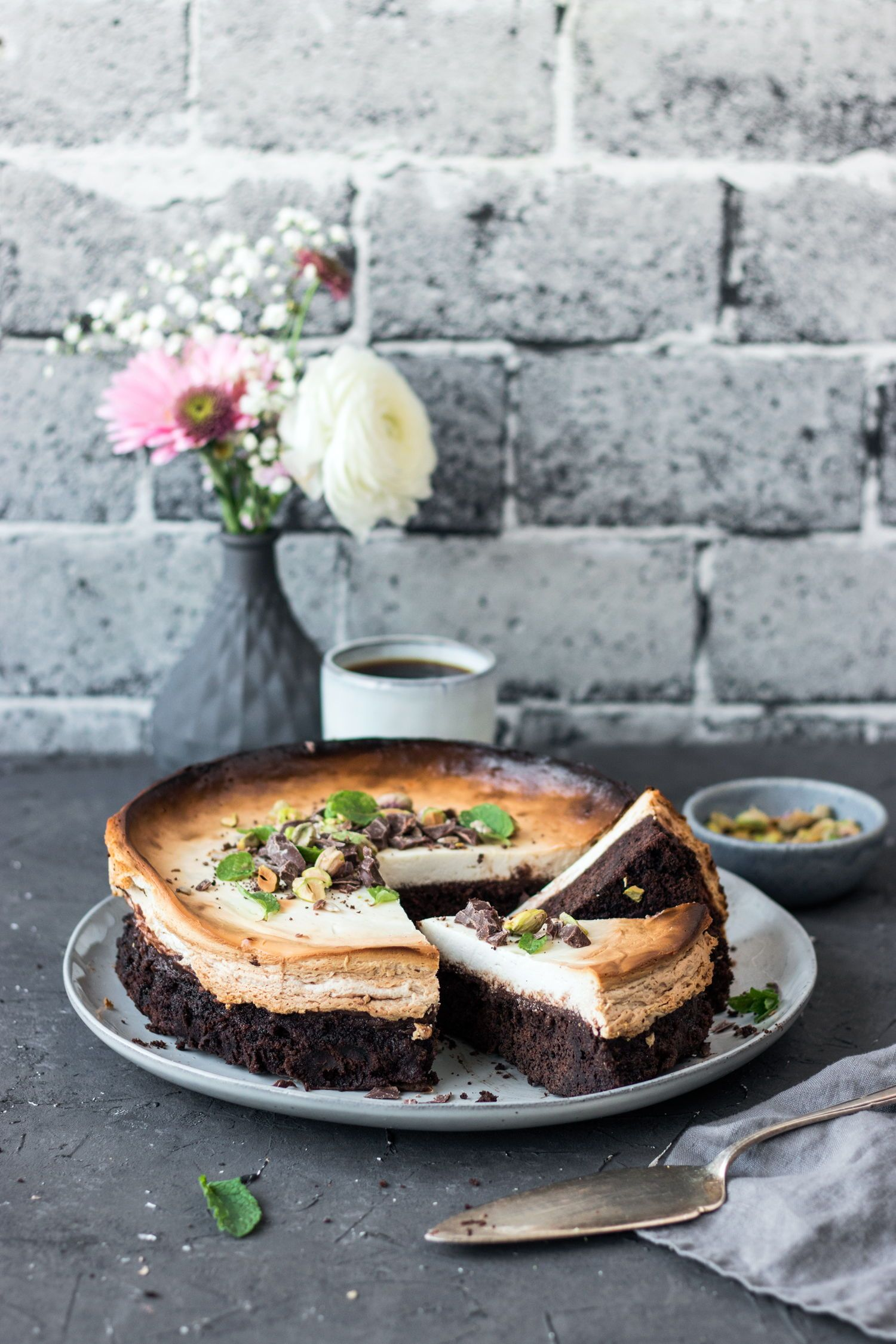 Brownie-Cheesecake (glutenfrei und vegan)
