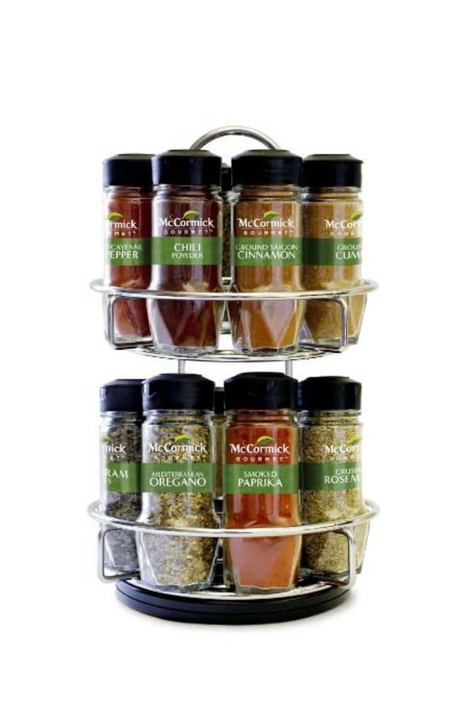 Mccormick Gourmet Kitchen Spice Rack Organizer With16 Different