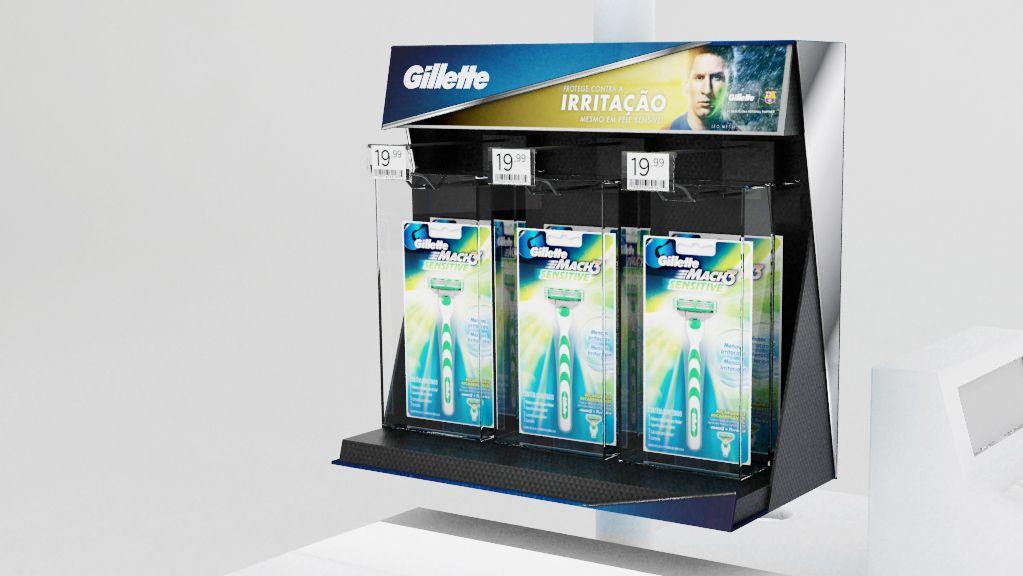 Iniciativa Gillette on Behance Pop display, Gillette