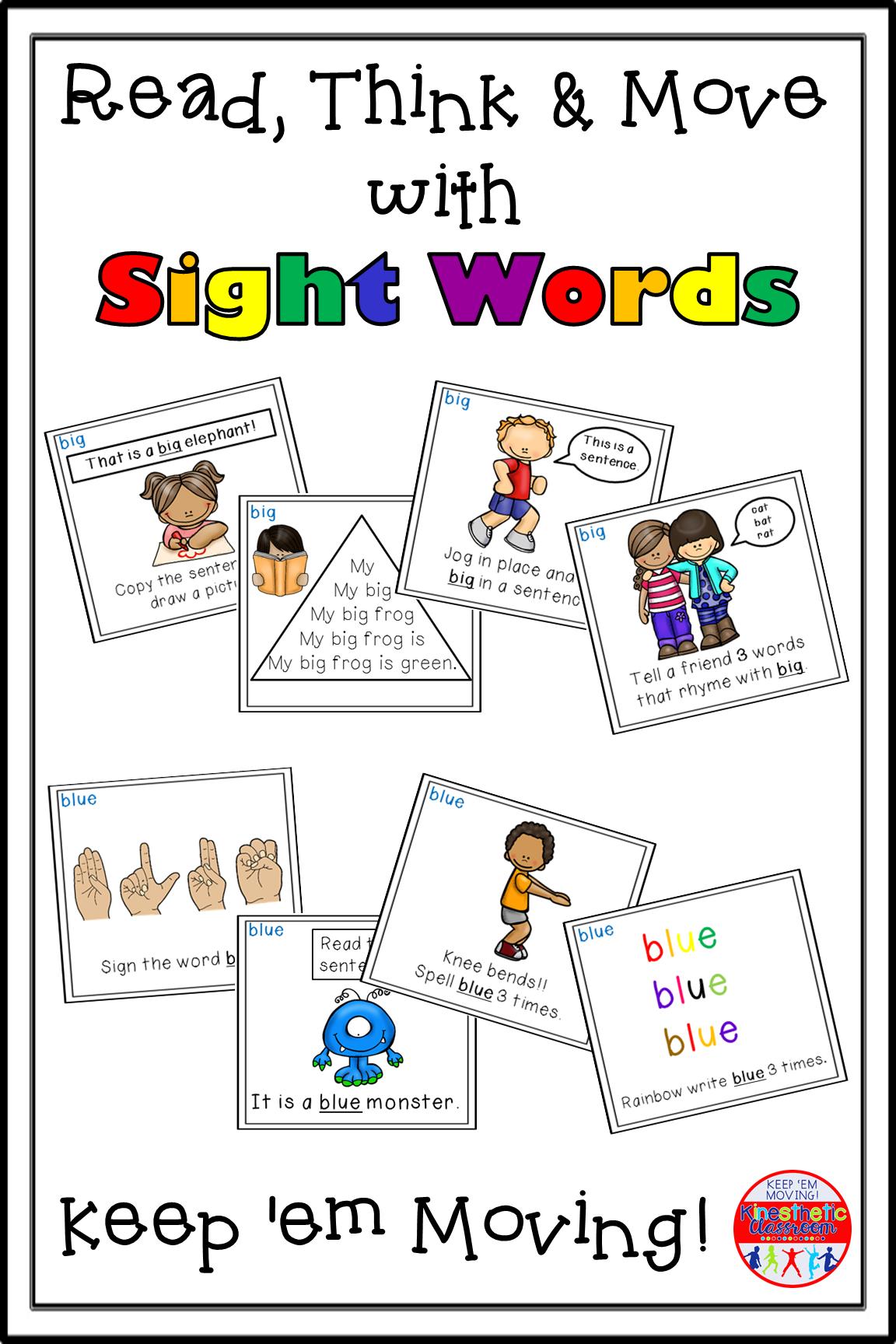 Sight Word Activity Task Card Bundle