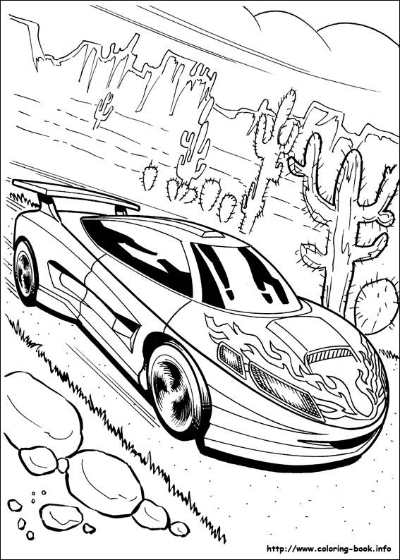 Hot Wheels coloring picture Coloring