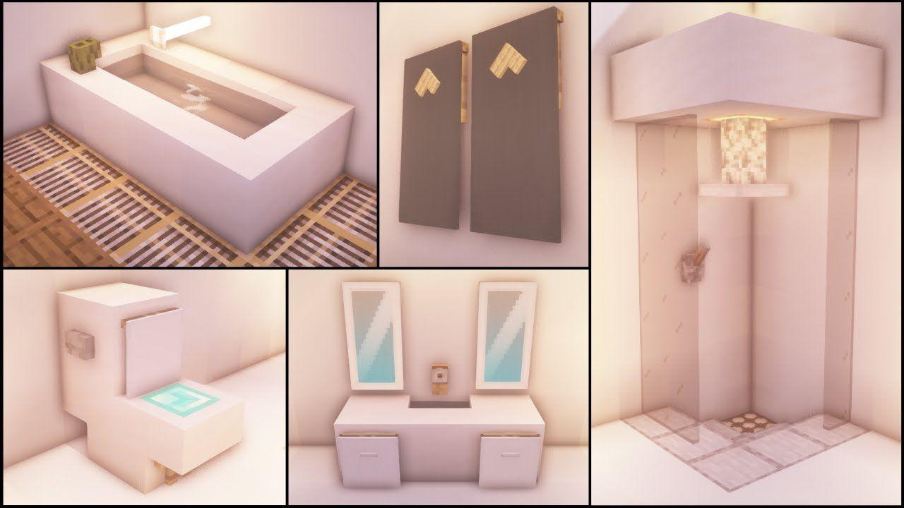 Minecraft: 40+ Bathroom Build Hacks and Ideas - YouTube ...