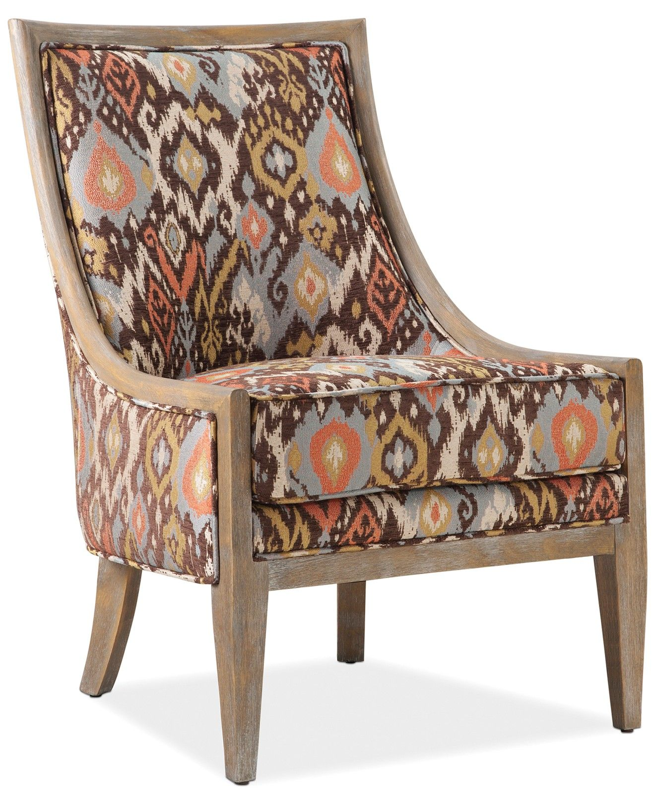 Helena Printed Fabric Accent Chair Direct Ship Chairs